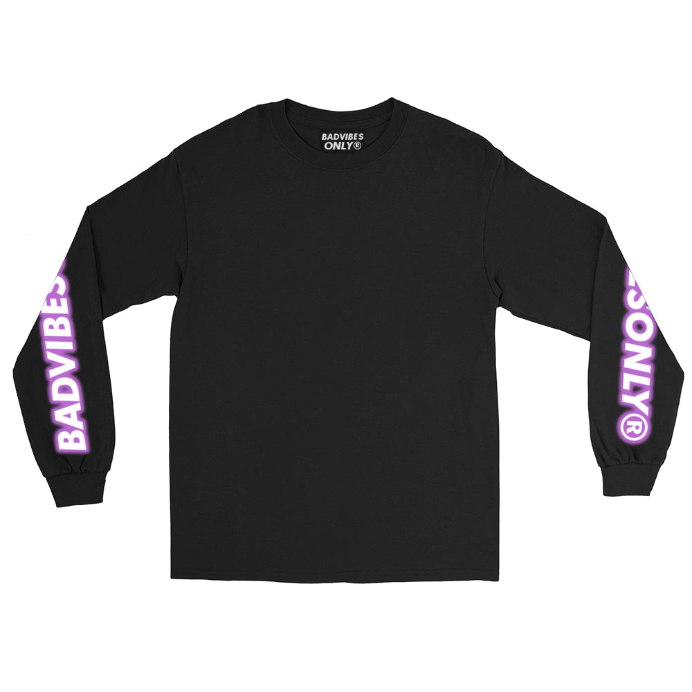 BADVIBESONLY® PURPLE THUNDER 2019® LONG SLEEVE T-SHIRT (FRONT)