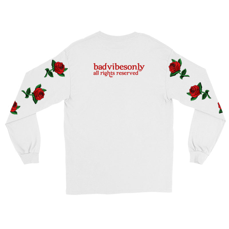 BADVIBESONLY® SORRY NOT SORRY LONG SLEEVE T-SHIRT (BACK)