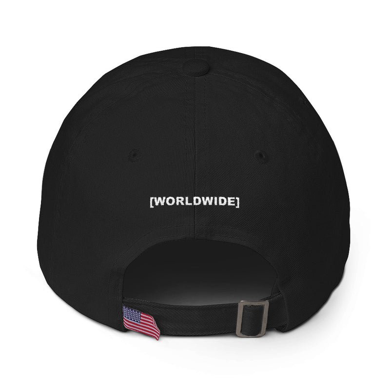 BADVIBESONLY® WORLDWIDE BLACK BASEBALL CAP (BACK)