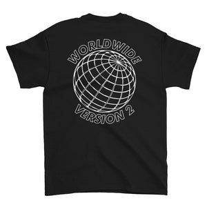 BADVIBESONLY® WORLDWIDE V2 BLACK T-SHIRT (BACK)