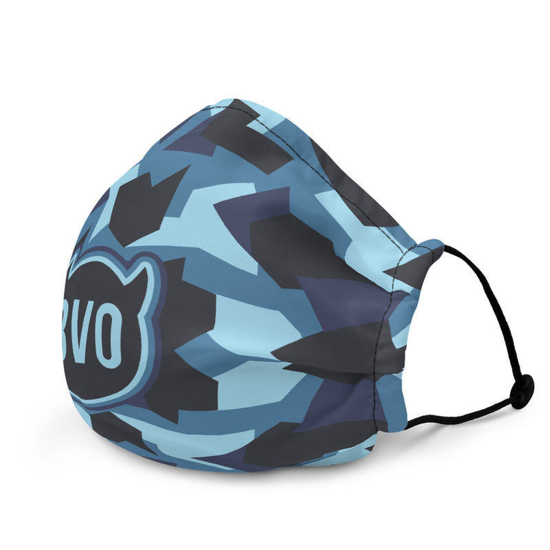 BVO BLUE CAMO FACE MASK