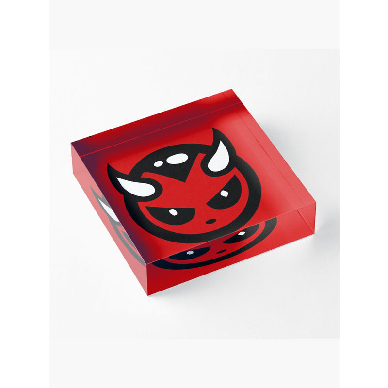 DEVIL LOGO ACRYLIC BLOCKS