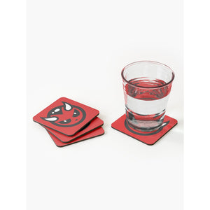 DEVIL LOGO COASTERS