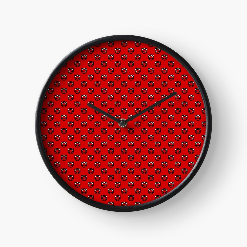 DEVIL HEAD REPEAT LOGO CLOCK