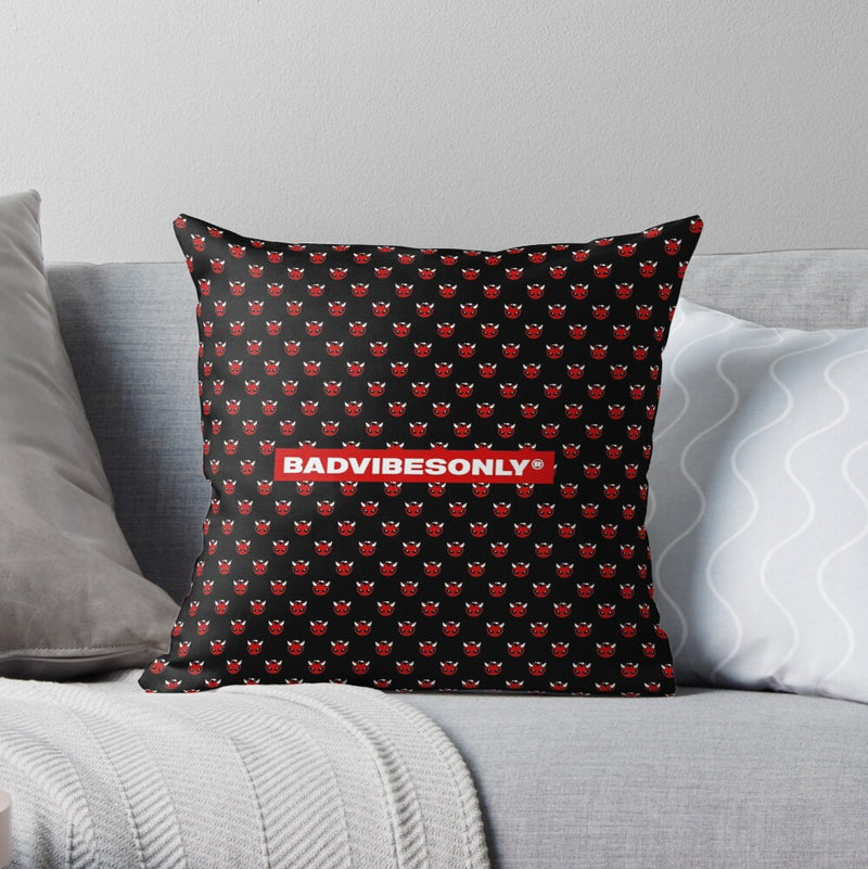 BADVIBESONLY® THROW PILLOW