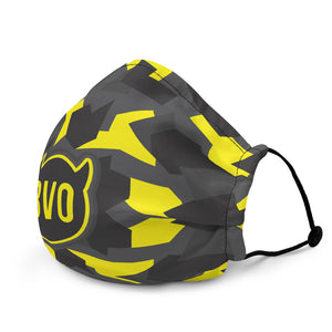 BVO YELLOW CAMO FACE MASK