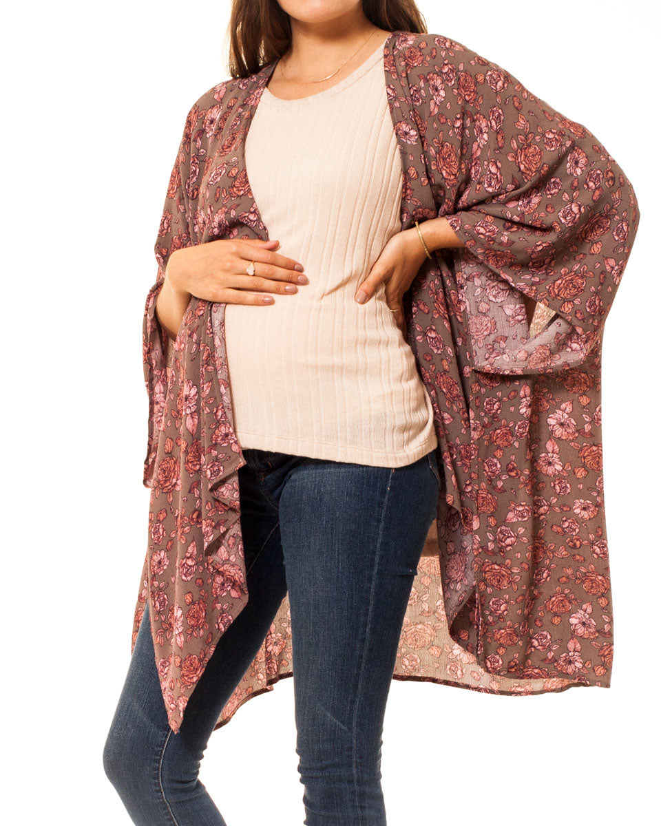 The Woods Mothers Day Maternity Kimono Cardigan Wrap