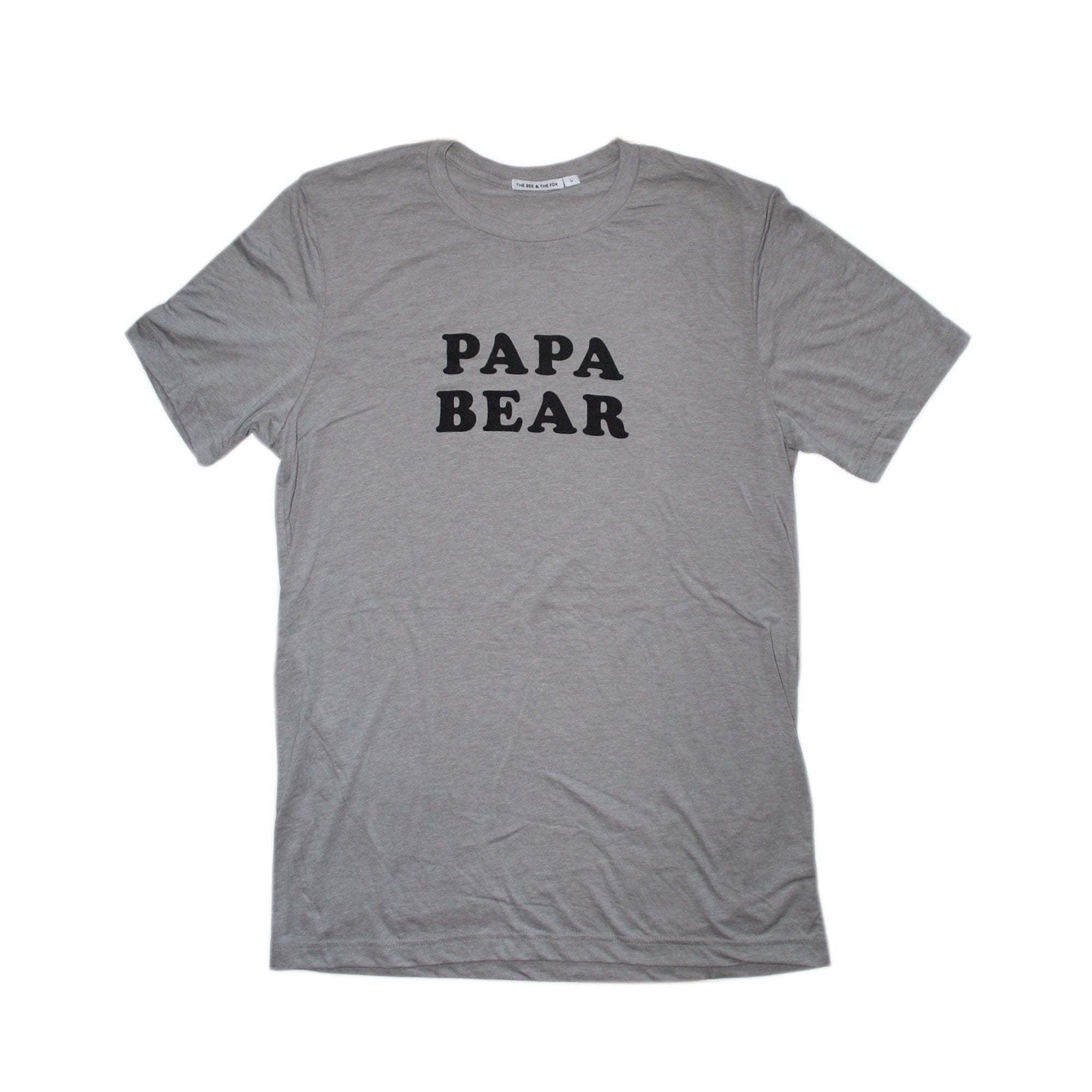 Shop The Woods Father's Day Little Bear Papa Bear matching t-shirt The Bee and The Fox