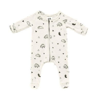 Kira kids cream taco zipper onesie sweatshirt romper baby babies audrey and olive maternity clothes shop the woods san francisco