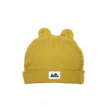 baby kids girls boys beanie with ears mustard yellow organic cotton kira kids audrey and olive shop the woods sf