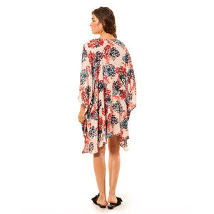 shop the woods Audrey and Olive 3+1 maternity clothes floral kimono women women's blush pink