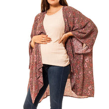 shop the woods Audrey and Olive 3+1 maternity clothes floral kimono grey pink women women's