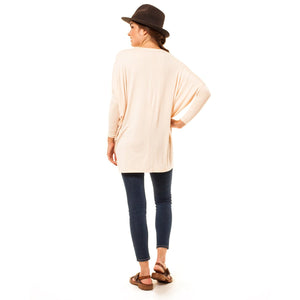 shop the woods Audrey Olive 3+1 maternity clothes dolman sleeve light pink t-shirt tee dress
