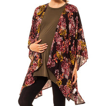 shop the woods Audrey and Olive 3+1 maternity clothes floral kimono women women's brown pink