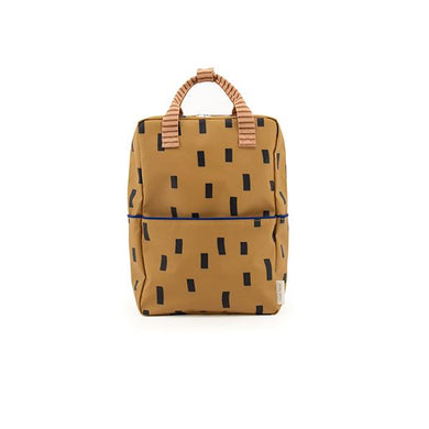 The Woods Sticky Lemon Sprinkles small backpack recycled plastic bottles sustainable cinnamon brown sage green royal orange