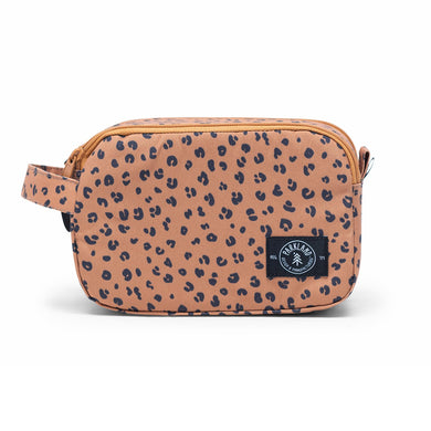 Shop The Woods parkland valley pouch travel packing bag recycled plastic sustainable environmental leopard tan