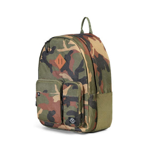 Parkland Academy recycled plastic backpack camo camouflage Audrey and Olive The Woods SF