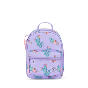 Parkland Rodeo recycled backpack lunch kit lavender purple cactus flower Audrey and Olive The Woods SF