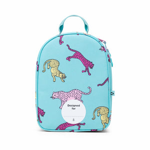 Shop The Woods Parkland Rodeo recycled backpack lunch kit tiger cheetah blue