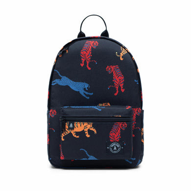 Shop The Woods Parkland Edison recycled backpack bag black tiger cheetah