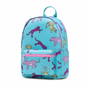 Shop The Woods Parkland Edison recycled backpack bag Blue tiger cheetah
