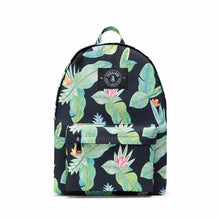 Shop The Woods Parkland Franco recycled backpack Herschel black palm leaves jungle