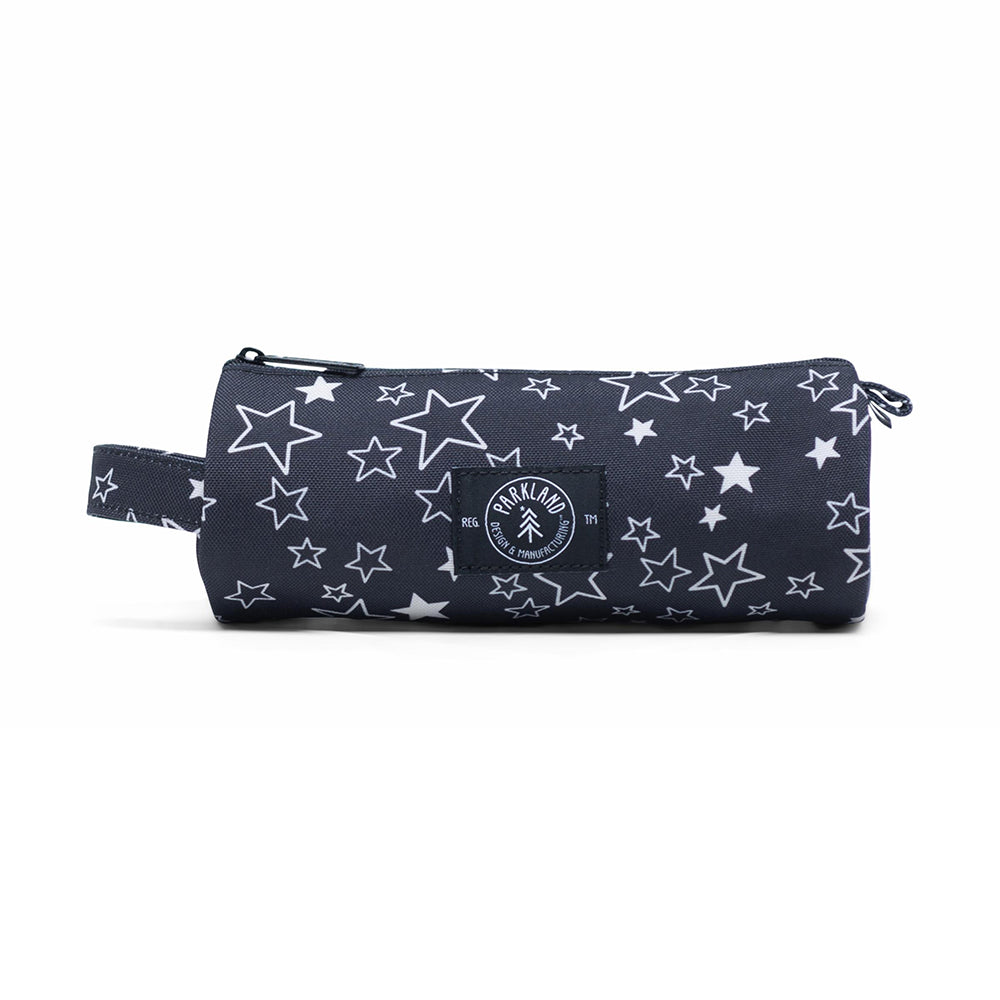 Shop The Woods Parkland Highfield recycled small pouch bag pencil case kids toddler school sustainable environmental black white night stars constellation