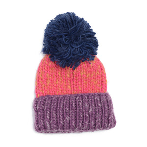 shop the woods kids girls boys baby wander and wonder wool beanie pom pompom magenta blue purple audrey and olive
