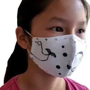 The Woods Pink Peony kids face mask cotton PPP n95 ice cream