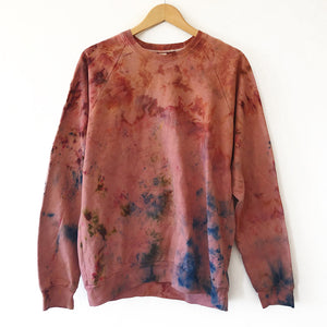 The Woods Mira Blackman Oakland organic canyon sweatshirt tie dye amaranth