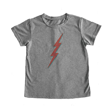 The Woods feather 4 arrow tee t-shirt david bowie ziggy stardust rainbow lightening bolt grey