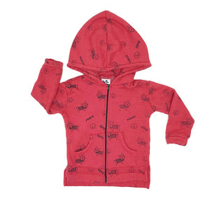 Kira kids frenchie frenchy dog red hoodie sweatshirt kids baby babies audrey and olive maternity clothes shop the woods san francisco