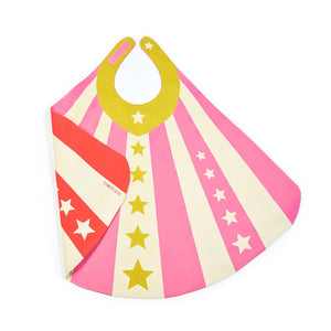 vThe Woods Lovelane Designs kids childrens costume hero cape reversible pink red stars