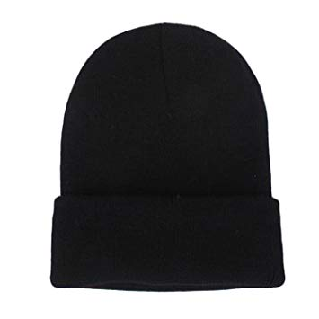 shop the woods butter bean basic beanie acrylic wool fold over black