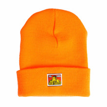 The Woods Original Ben davis san francisco work wear workwear beanie acrylic wool safety orange neon