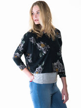 Floral Cropped Sweater