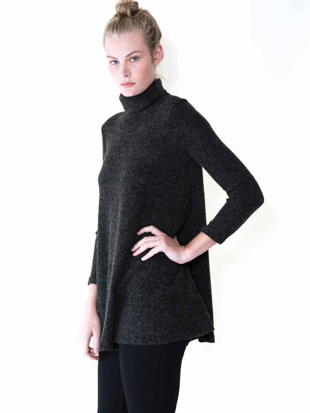 Maternity turtleneck sweater dress tunic by Audrey and Olive clothing