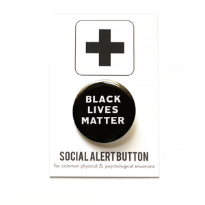 The Woods Word for Word Black Lives Matter BLM button pin