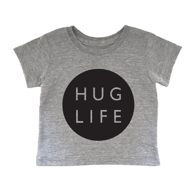 audrey and olive modern maternity clothes - cheerily.co Hug Life baby tee in navy blue color