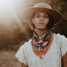 The Woods Bandits Bandanas organic gots cotton sustainble fair trade face mask scarf real fun wow Daren Thomas Magee ojai conservancy life in flight nature hiking pink peach