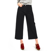 The Woods Loup Simone mom mother jeans dark indigo wide leg cropped pants black