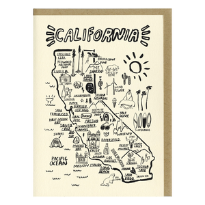 Shop The Woods People I've Loved Oakland printmaker San Francisco Map print greeting card woman maker