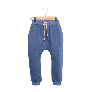 shop the woods kids girls boys baby wander and wonder relaxed sweat pants sweatpants denim dark navy blue audrey and olive