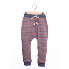 shop the woods kids girls boys baby wander and wonder relaxed sweat pants sweatpants navy red striped dark navy blue audrey and olive
