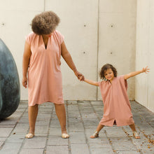 shop the woods miranda bennett everyday dress silk noil black linen natural ethical fashion pink nico mommy daughter
