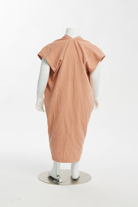 shop the woods miranda bennett everyday dress silk noil cotton linen natural ethical fashion kids zero waste childrens girls baby toddler pink nico