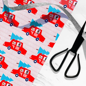 Holiday Cars Wrapping Paper Sheet