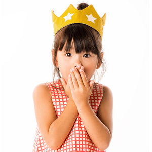 The Woods Lovelane Designs kids childrens costume gold yellow star crown