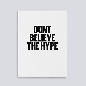 The Woods Paper Jam Press Don't Believe the Hype rap lyrics print poster Public Enemy