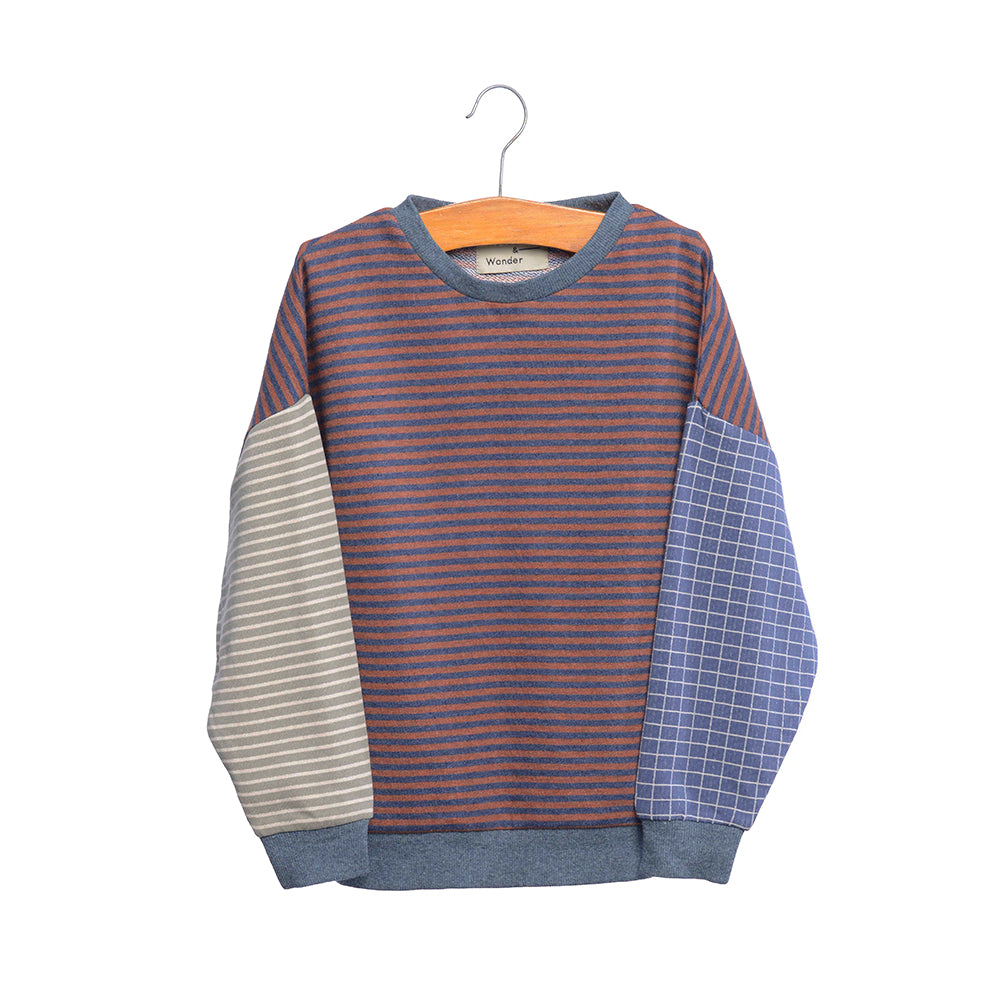 shop the woods kids girls baby wander and wonder striped color block sweatshirt sweat shirt blue japan japanese audrey and olive